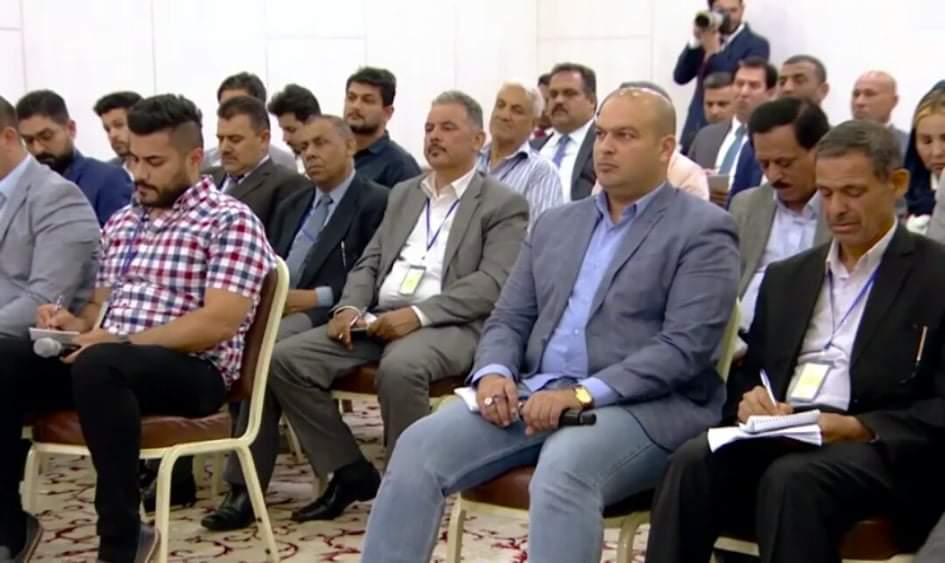 المؤتمر الصحفي  لرئيس الوزراء بحضور مدير عام الوكالة الاستاذ رحيم العتابي